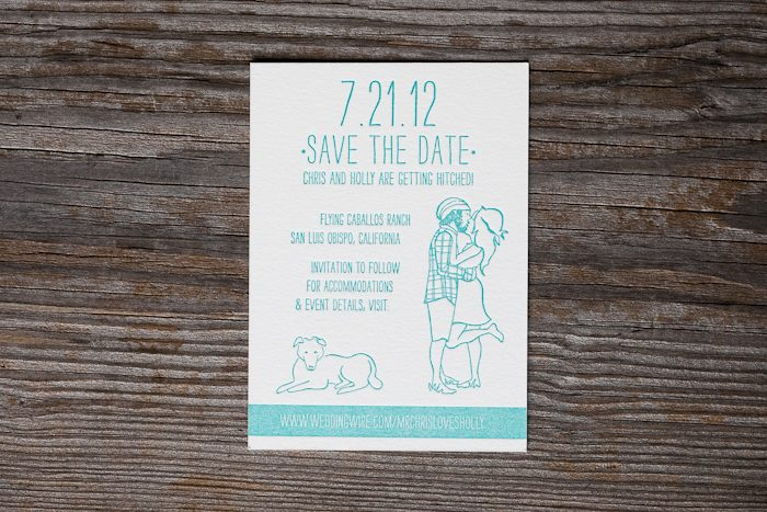 Allegory Modern save the dates