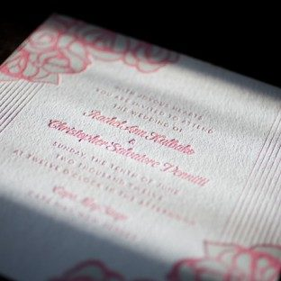 simple summer letterpress wedding invitations