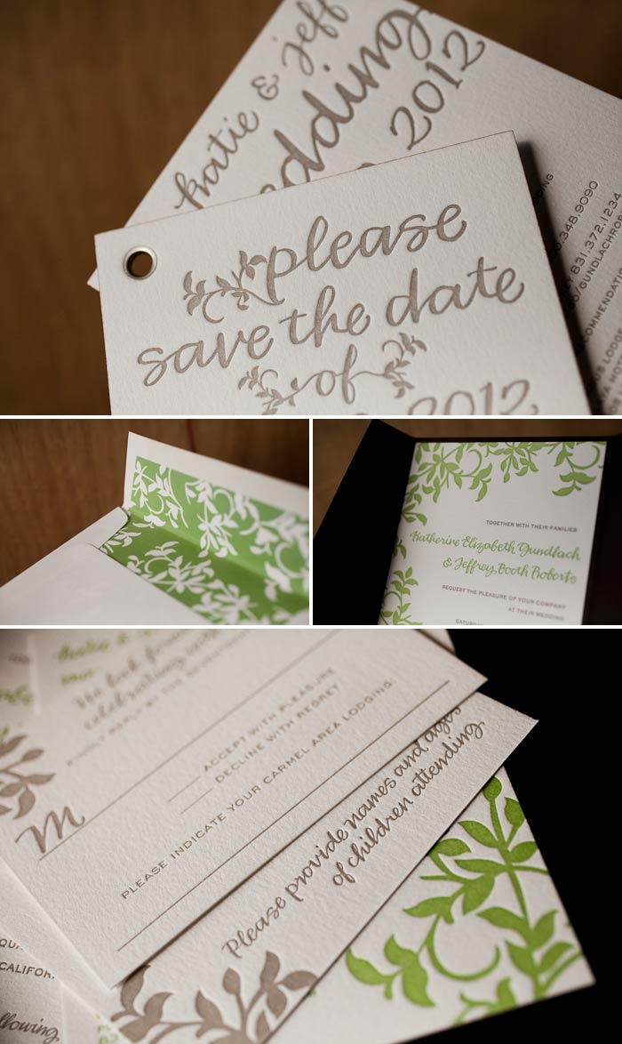 letterpress save the date booklets