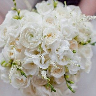A beautiful bridal bouquet from Faxon Green, an eco florist