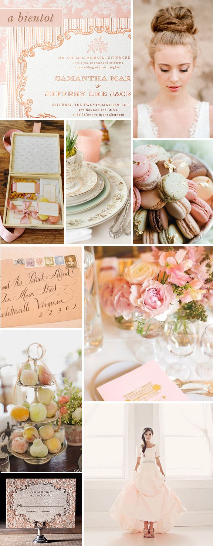 A Bientot is a romantic invitation with Parisian flair, designed by Jessica Tierney for Bella FIgura