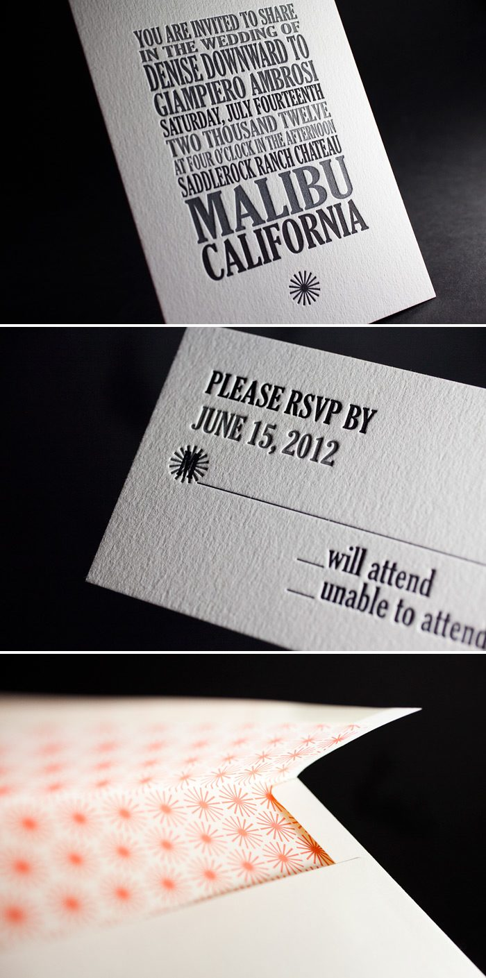 This is a custom design printed by Bella Figura in 3 color letterpress.