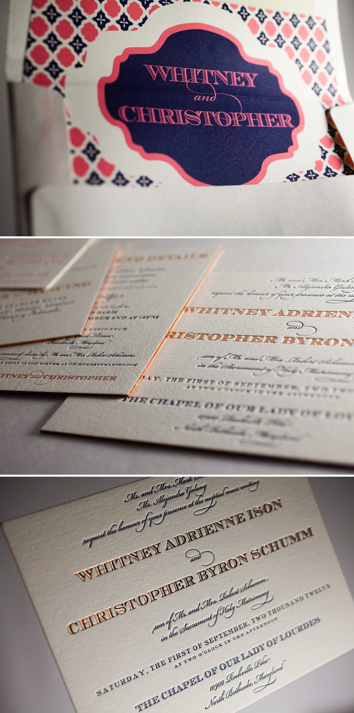 Foil and Letterpress make this a unique customization of Bella Figura's Gracelyn Vintage design.