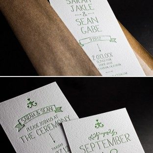 This is a customization of Bella Figura's Dash design that is letterpressed in garden ink.