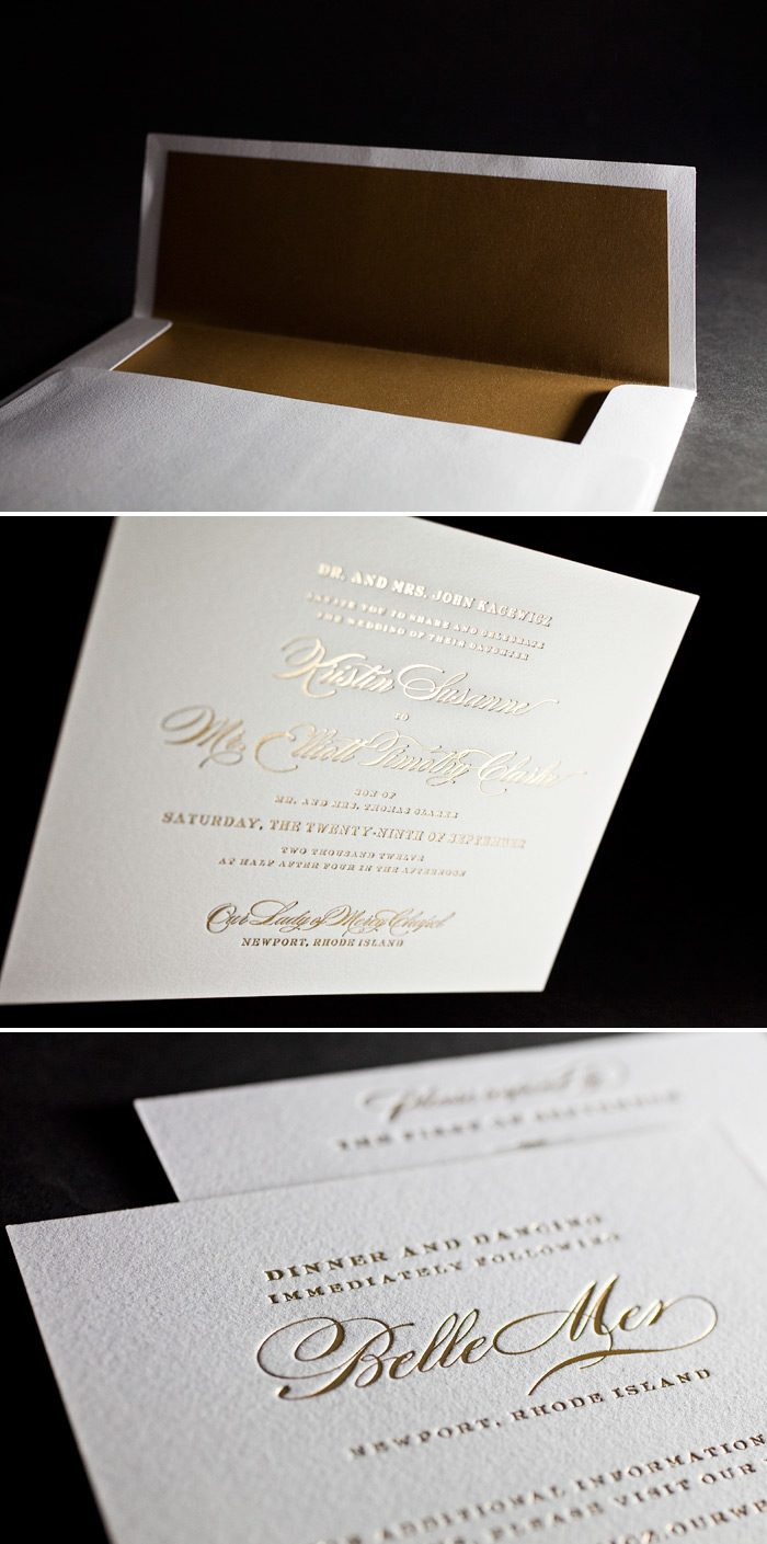 This is a customization of Bella Figura's Deveril design in all gold foil!