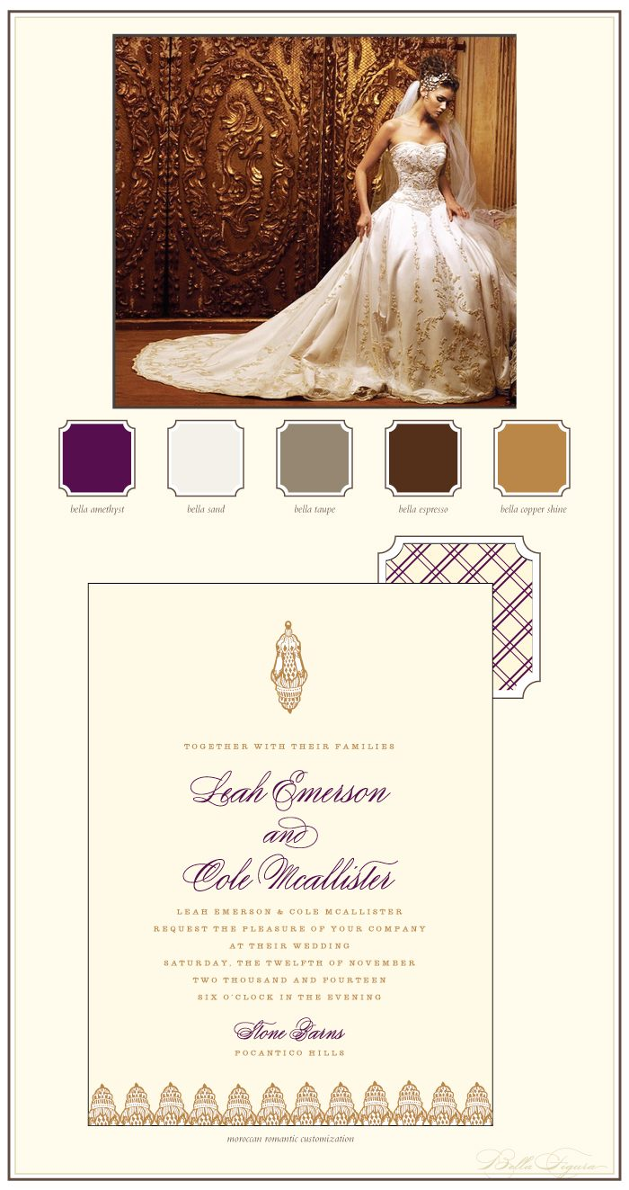 This is a customization of Bella Figura's Moroccan Romantic design that is elegant and refined.