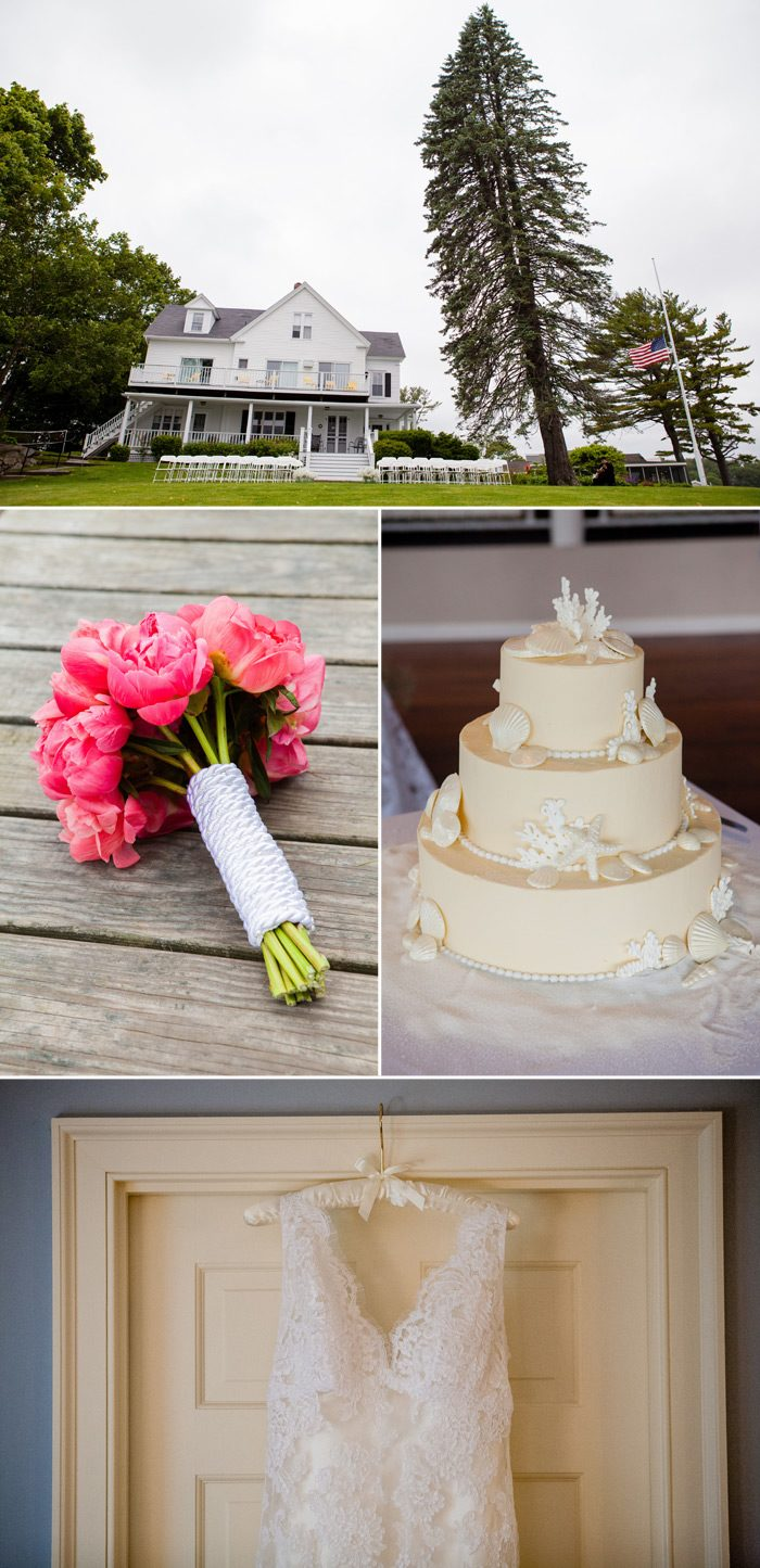 Nautical wedding in York Harbor, Maine