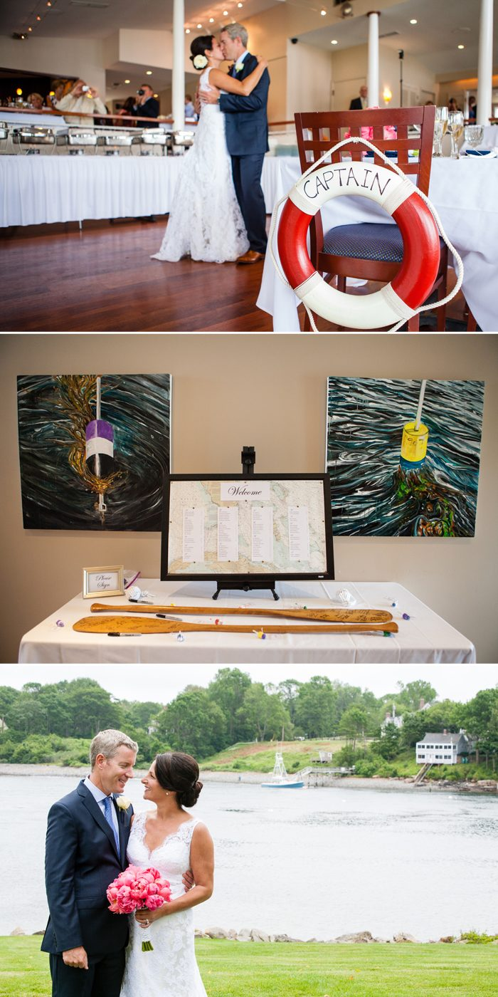 This Bella Figura wedding took place at the Dockside Restaurant & Guest Quarters in Maine