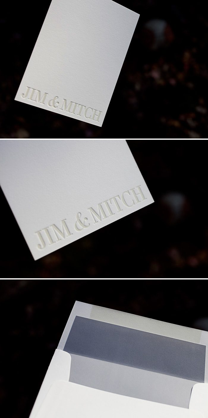 Our Irving design by Ben Whitla is the perfect minimalistic letterpress choice.
