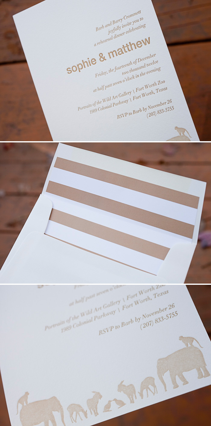 Create custom invitations that Bella Figura can letterpress.