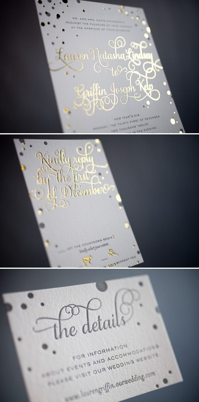 Custom foil stamping creates gorgeous invitations