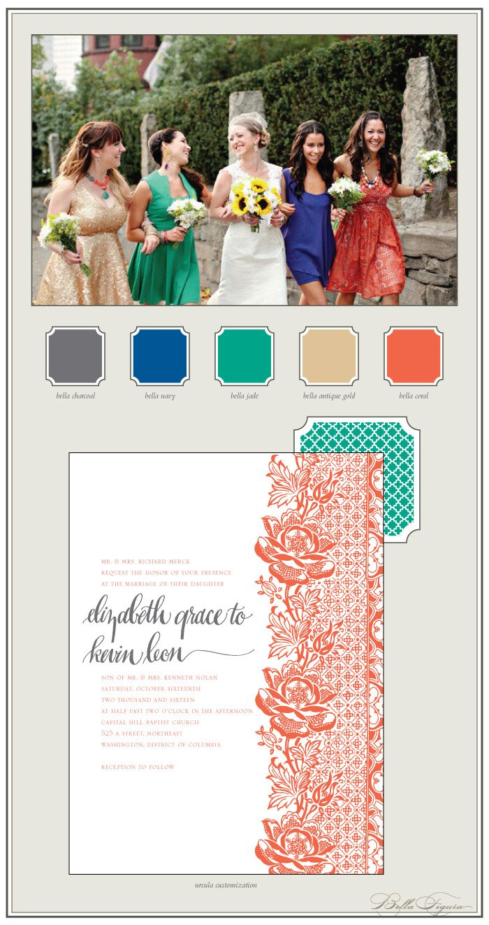 Our Ursula design looks stunning in this colorful customization