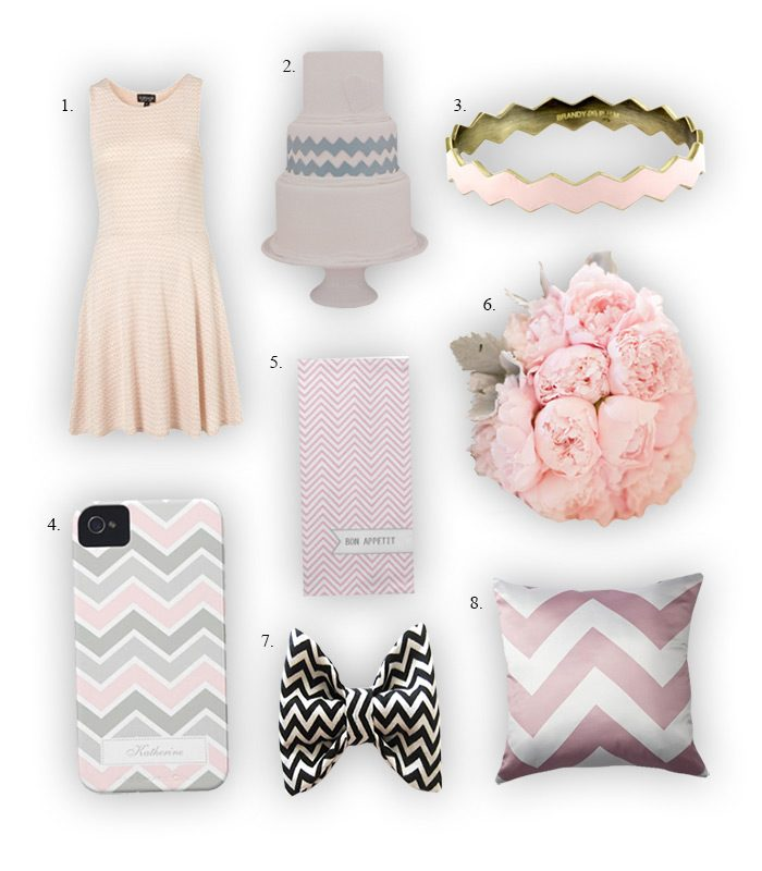 A few fun ways to bring chevron into your wedding day!