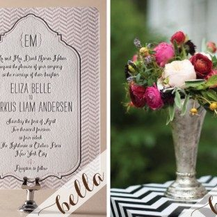 The perfect invitation to celebrate a chevron wedding