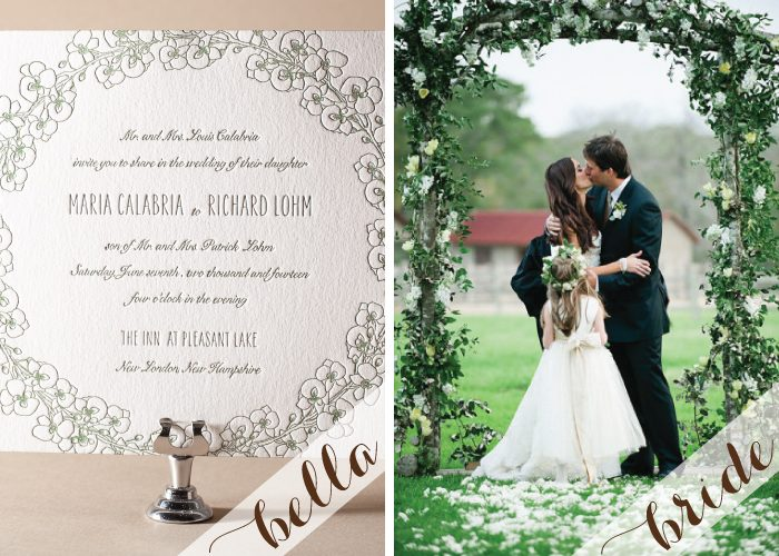 Lush florals and our Romantic Floral letterpress invite are perfect for spring