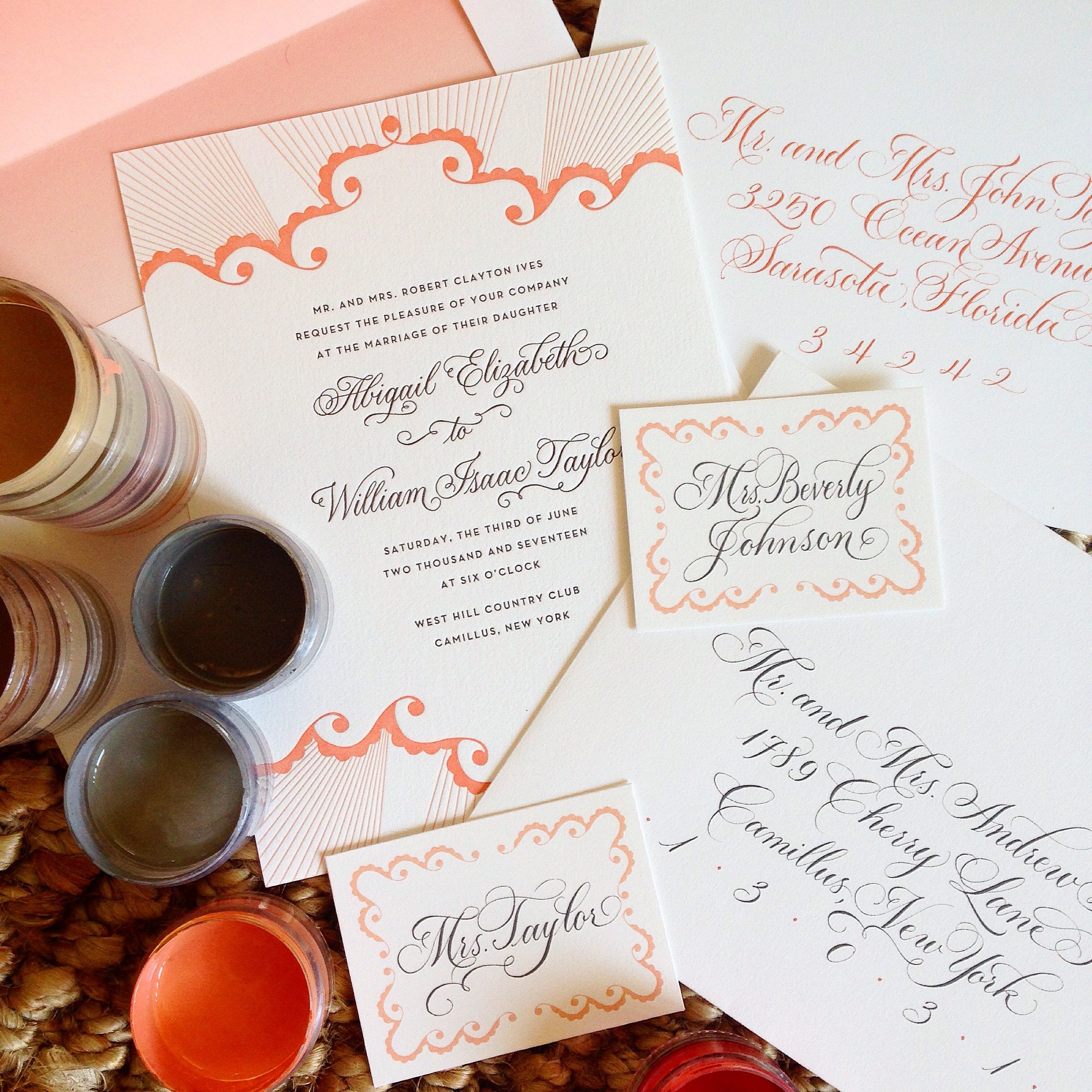 Calligraphy addressing for wedding invitation envelopes and more sarah hanna of sarah hanna calligraphy 10 inner outer envelope calligraphy or 7 for outer envelope only for bella figura brides monicamarmolfo Images