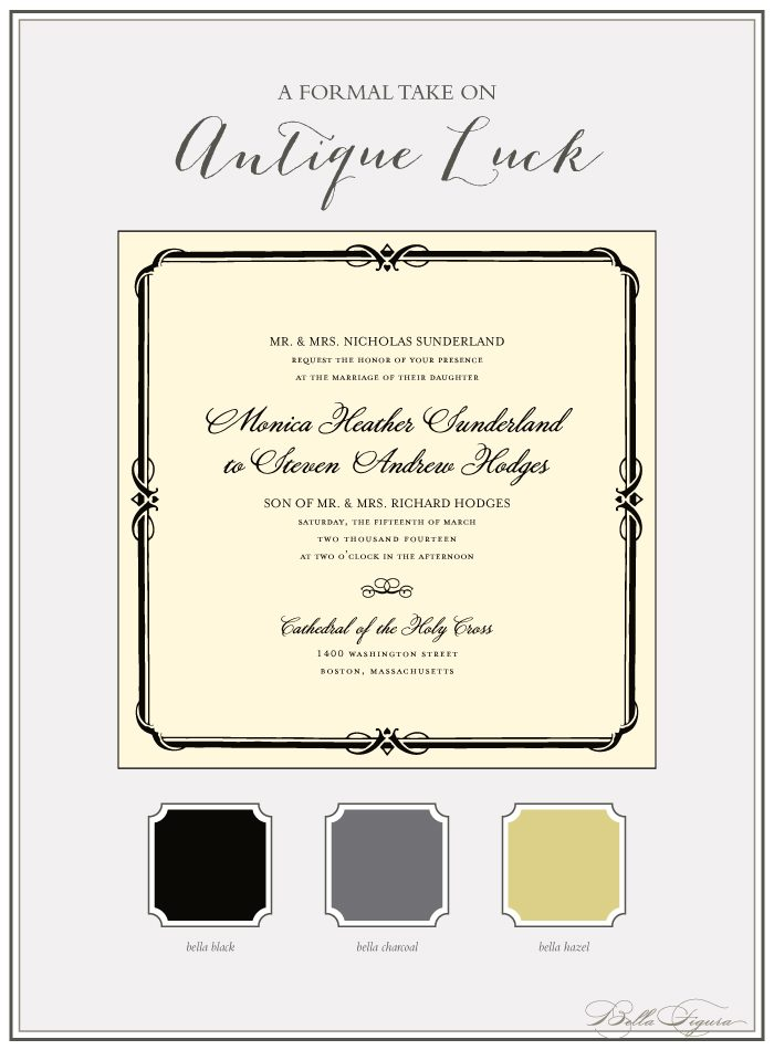 Bella Figura's Antique Luck design is on sale through March 31, 2013