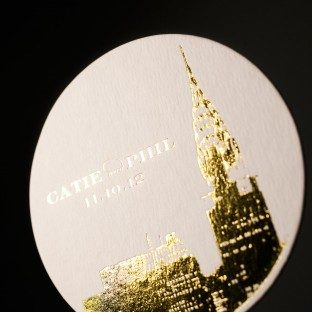 Charmed New York foil stamped coaster