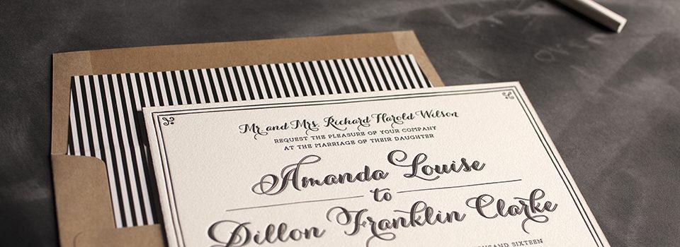 Create unique + custom wedding invitations with Bella Figura