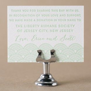 Viceroy letterpress favor cards from Bella Figura