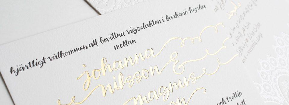 Bilingual letterpress wedding invitations from Bella Figura