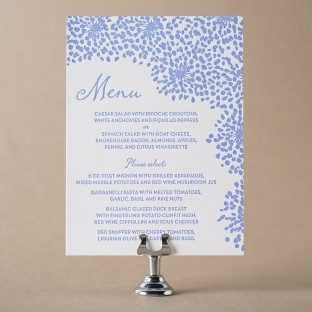Modern Fete letterpress wedding menu from Bella Figura