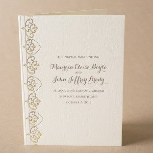 Claddagh letterpress wedding programs from Bella Figura