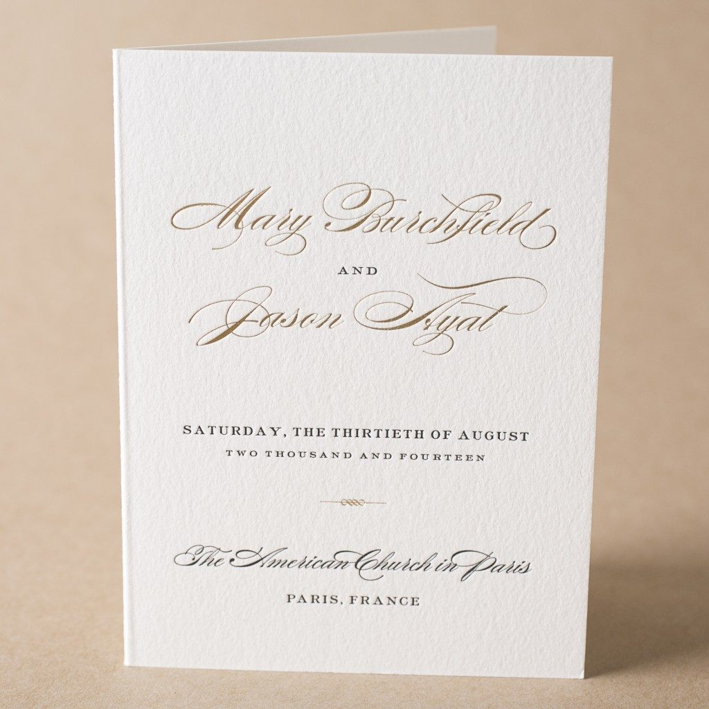 Wording And Etiquette Ideas For Wedding Programs From