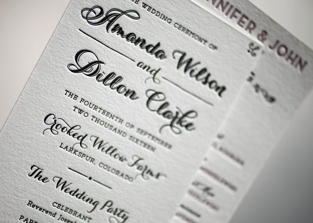 wording for wedding programs