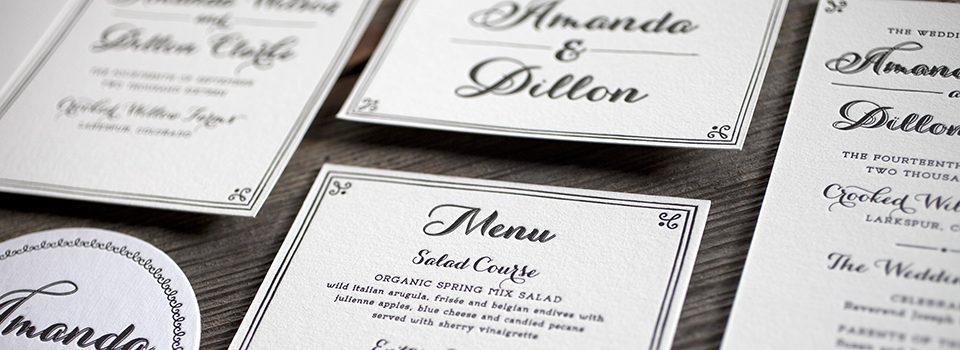 Wedding stationery, the wedding suite | Bella Figura