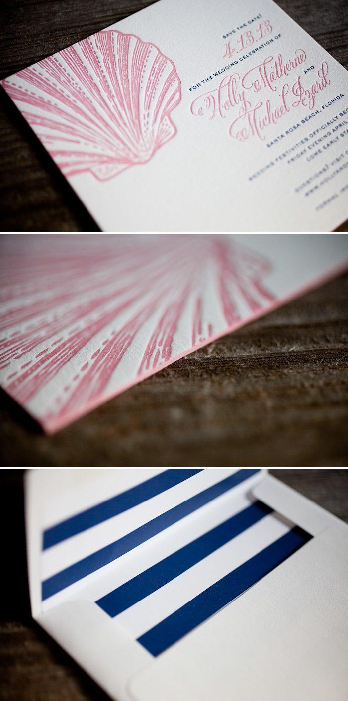 Square letterpress save the dates