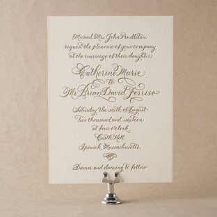 Shop over 300 foil letterpress wedding invitations from Bella Figura