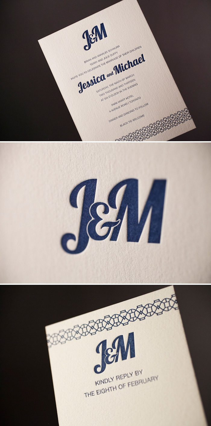 Classic Monogram features a modern font combination