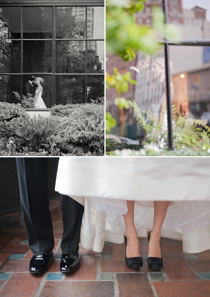 Black and white glamorous real wedding