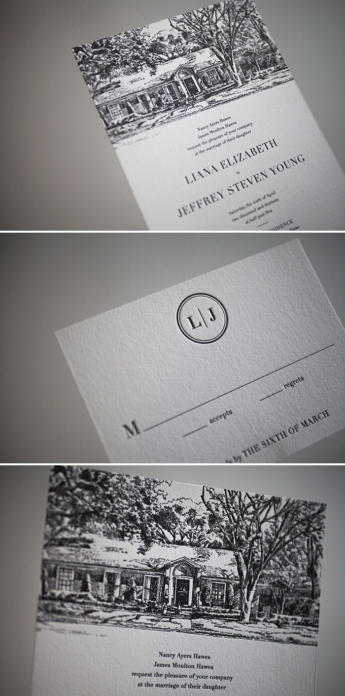 Whimsical custom artwork for letterpress