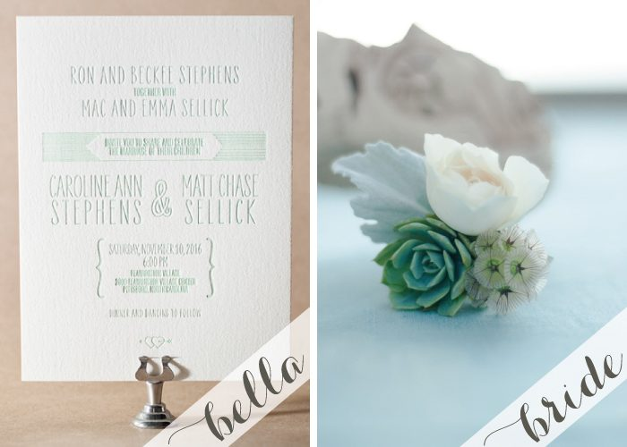 Create an eco friendly wedding with our letterpress wedding invitations