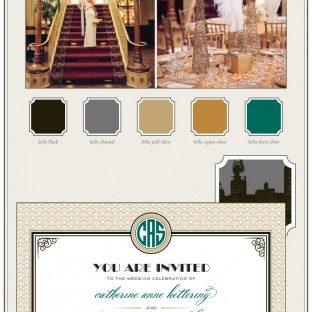 Gatsby inspired wedding invitations