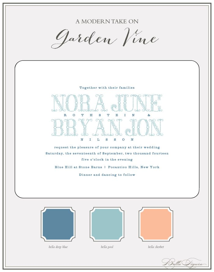Bella Figura's Garden Vine invitation suite is on sale for up to 20% off during the month of June