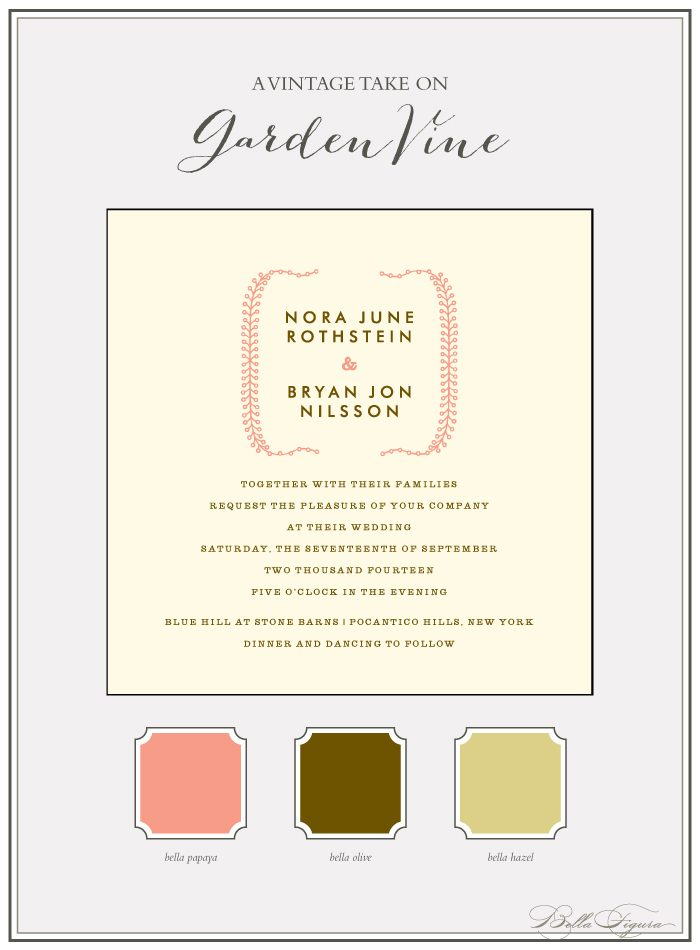 Letterpress wedding invitations by Bella Figura are on sale now through June 30, 2013