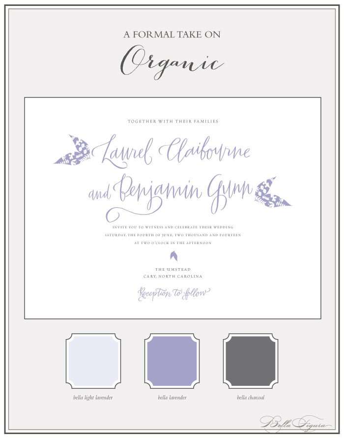 The Organic letterpress invitation suite from Bella Figura is on sale through May 31, 2013