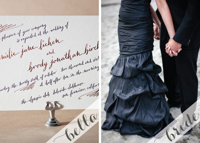 modern letterpress wedding invitations by bella figura