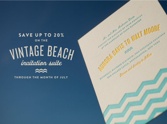 Letterpress wedding invitations from Bella Figura on sale now