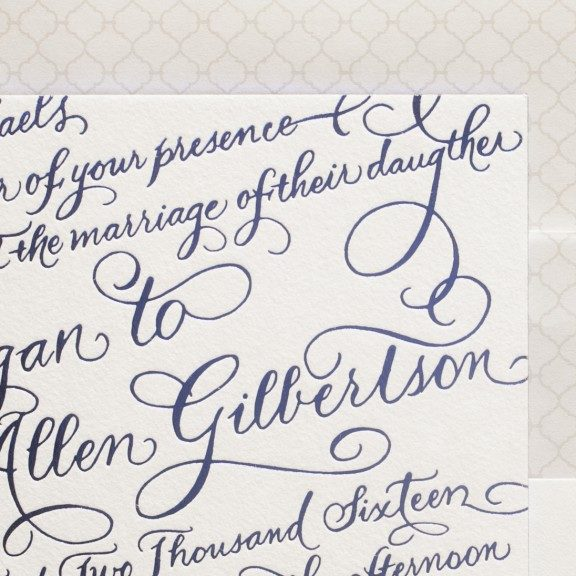 New Calligraphy Wedding Invitations From Bella Figura