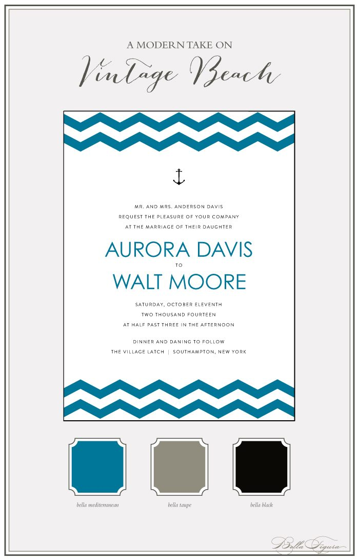 The Vintage Beach letterpress invitation suite from Bella Figura is on sale now through July 31
