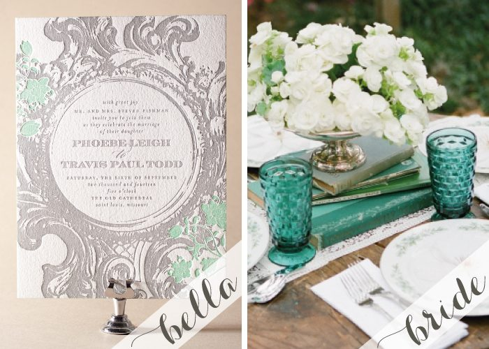 Secret Garden Party inspiration with Letterpress Invitations by Bella Figura