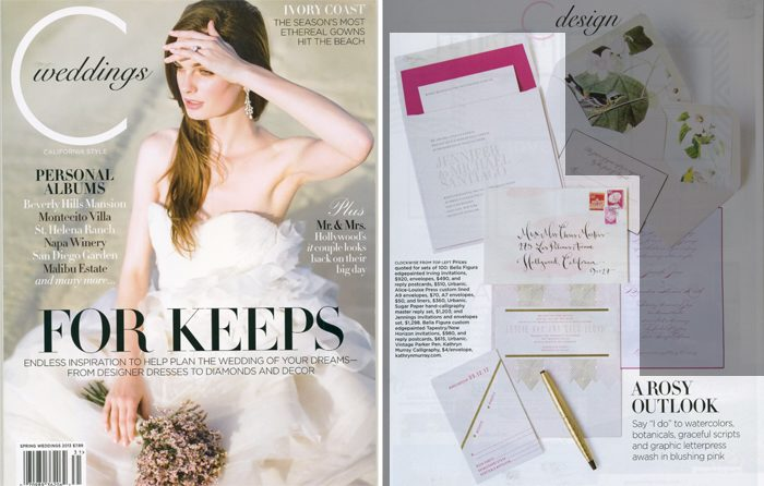 Letterpress wedding invitations were featured in the latest issue of C Magazine