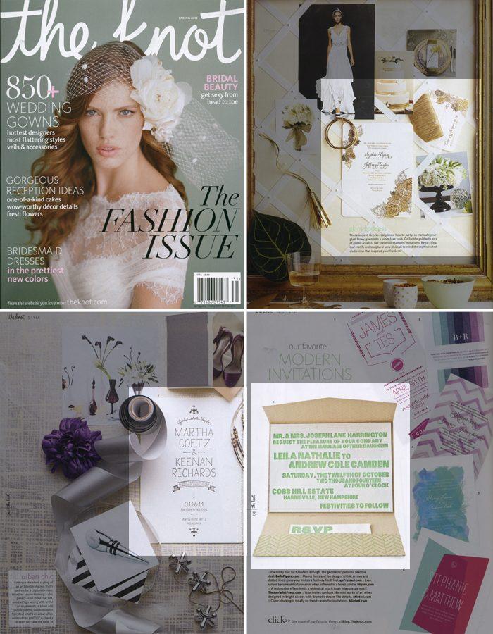 Letterpress wedding invitations by Bella Figura as seen in the Knot