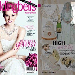 Bella Figura's Whisper design featured in Wedding Bells magazine