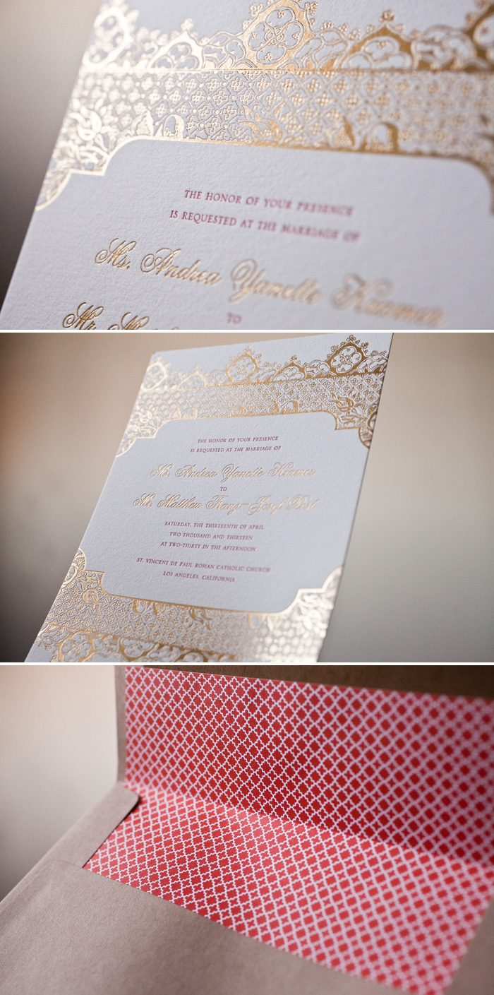 Bella Figura's Ursula wedding invitations