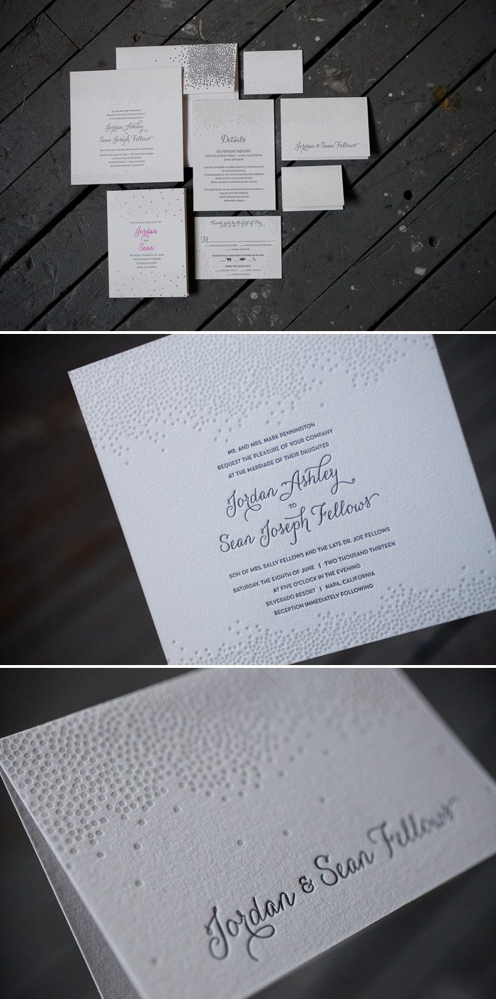 Joie de Vivre Wedding Invitation Suite by Bella Figura